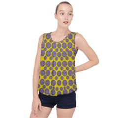 Sunshine And Floral In Mind For Decorative Delight Bubble Hem Chiffon Tank Top