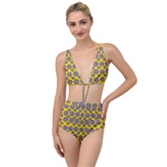 Sunshine And Floral In Mind For Decorative Delight Tied Up Two Piece Swimsuit