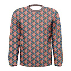 Background Pattern Texture Men s Long Sleeve Tee