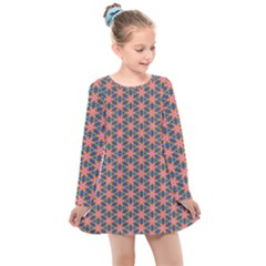 Background Pattern Texture Kids  Long Sleeve Dress