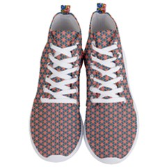 Background Pattern Texture Men s Lightweight High Top Sneakers
