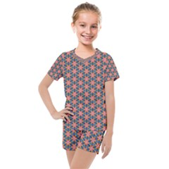 Background Pattern Texture Kids  Mesh Tee And Shorts Set by Jojostore