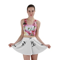 Set Of Black Web Dings On White Background Abstract Symbols Mini Skirt