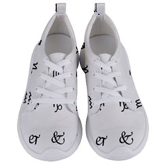 Set Of Black Web Dings On White Background Abstract Symbols Women s Lightweight Sports Shoes