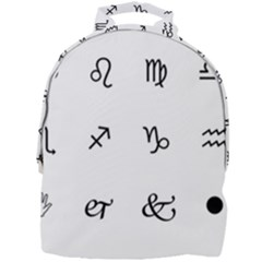 Set Of Black Web Dings On White Background Abstract Symbols Mini Full Print Backpack by Jojostore