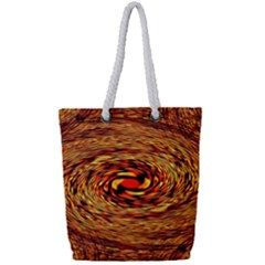 Orange Seamless Psychedelic Pattern Full Print Rope Handle Tote (small) by Jojostore