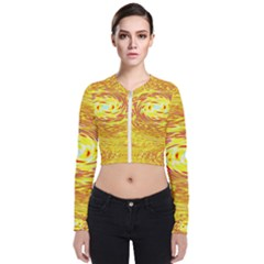 Yellow Seamless Psychedelic Pattern Zip Up Bomber Jacket