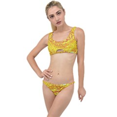 Yellow Seamless Psychedelic Pattern The Little Details Bikini Set