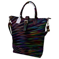 Texture Colorful Abstract Pattern Buckle Top Tote Bag