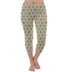 Star Basket Pattern Basket Pattern Capri Winter Leggings
