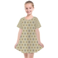 Star Basket Pattern Basket Pattern Kids  Smock Dress