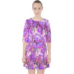 Flowers Abstract Digital Art Pocket Dress