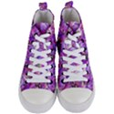 Flowers Abstract Digital Art Women s Mid-Top Canvas Sneakers View1