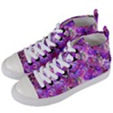 Flowers Abstract Digital Art Women s Mid-Top Canvas Sneakers View2