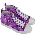 Flowers Abstract Digital Art Women s Mid-Top Canvas Sneakers View3