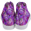 Flowers Abstract Digital Art Women s Mid-Top Canvas Sneakers View4