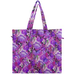 Flowers Abstract Digital Art Canvas Travel Bag