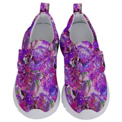 Flowers Abstract Digital Art Velcro Strap Shoes