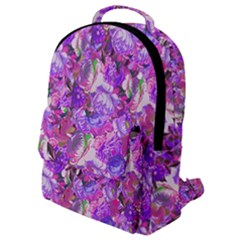 Flowers Abstract Digital Art Flap Pocket Backpack (small) by Jojostore