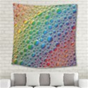 Bubbles Rainbow Colourful Colors Square Tapestry (Large) View2