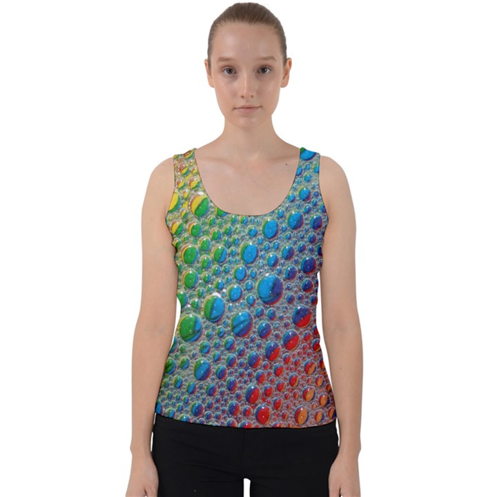 Bubbles Rainbow Colourful Colors Velvet Tank Top
