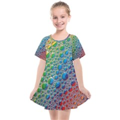 Bubbles Rainbow Colourful Colors Kids  Smock Dress