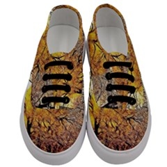 Summer Sun Set Fractal Forest Background Men s Classic Low Top Sneakers