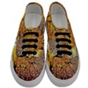 Summer Sun Set Fractal Forest Background Men s Classic Low Top Sneakers View1
