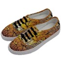 Summer Sun Set Fractal Forest Background Men s Classic Low Top Sneakers View2