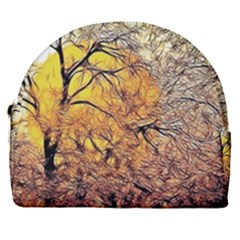 Summer Sun Set Fractal Forest Background Horseshoe Style Canvas Pouch