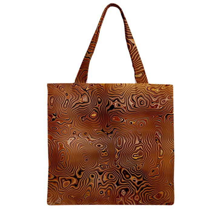 Circuit Board Zipper Grocery Tote Bag