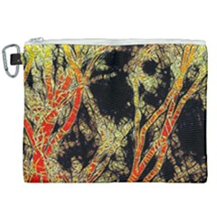 Artistic Effect Fractal Forest Background Canvas Cosmetic Bag (xxl) by Jojostore