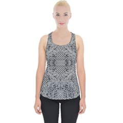 Gray Psychedelic Background Piece Up Tank Top
