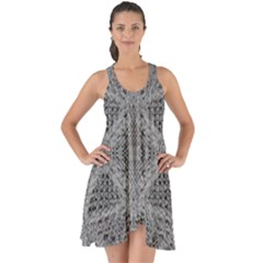 Gray Psychedelic Background Show Some Back Chiffon Dress