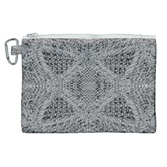 Gray Psychedelic Background Canvas Cosmetic Bag (xl)