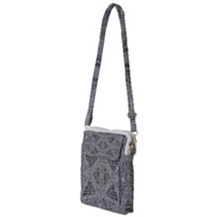 Gray Psychedelic Background Multi Function Travel Bag by Jojostore