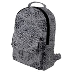 Gray Psychedelic Background Flap Pocket Backpack (small)