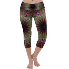 Julian Star Star Fun Green Violet Capri Yoga Leggings