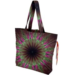 Julian Star Star Fun Green Violet Drawstring Tote Bag by Jojostore