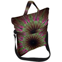 Julian Star Star Fun Green Violet Fold Over Handle Tote Bag