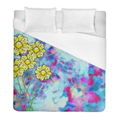Backdrop Background Flowers Duvet Cover (full/ Double Size)