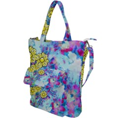 Backdrop Background Flowers Shoulder Tote Bag
