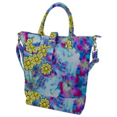Backdrop Background Flowers Buckle Top Tote Bag