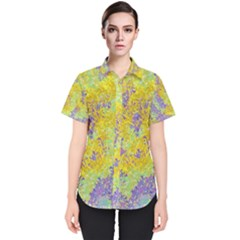 Backdrop Background Abstract Women s Short Sleeve Shirt