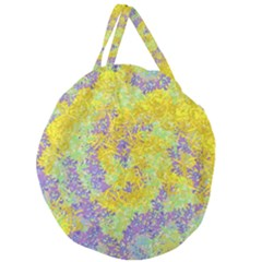 Backdrop Background Abstract Giant Round Zipper Tote by Jojostore
