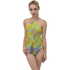 Backdrop Background Abstract Go With The Flow One Piece Swimsuit