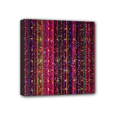 Colorful And Glowing Pixelated Pixel Pattern Mini Canvas 4  X 4  (stretched) by Jojostore