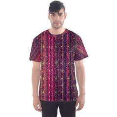 Colorful And Glowing Pixelated Pixel Pattern Men s Sports Mesh Tee by Jojostore