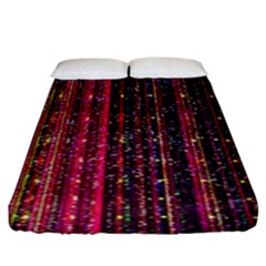 Colorful And Glowing Pixelated Pixel Pattern Fitted Sheet (king Size) by Jojostore