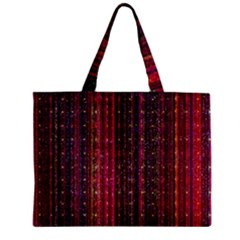 Colorful And Glowing Pixelated Pixel Pattern Zipper Mini Tote Bag by Jojostore